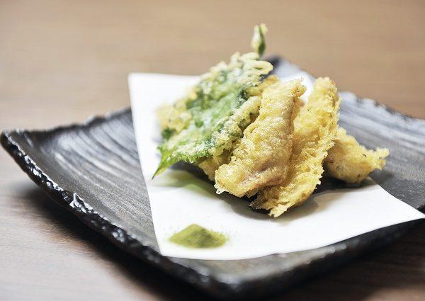 鴨ササミの天ぷら